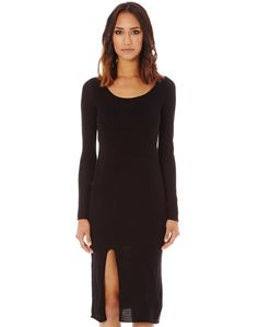 Shop and buy the latest in women's fashion and clothing online at Glassons.com. Check out this Merino Long Sleeve Dress - A long sleeve merino blend dress, in a midi length.
