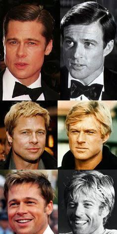Brad Pitt and Robert Redford look exactly the same!
