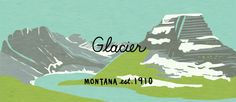Glacier National Park - Julia Kuo Moo Minicards