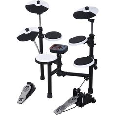 The Hitman HD-3 portable electronic drum kit has a compact footprint and a folding drum frame design to allow for quick setup, break down and maximum portability. It is the perfect kit for the drummer