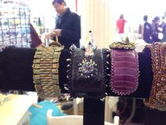 Shot these cuffs at Bead My Love's booth in #NYC. Loving on the black one, especially!