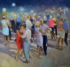 """""""Les Danseurs"""" by Andre Deymonaz Ap Art Concentration, Tango Art, Art Nouveau Poster, Dancing In The Moonlight, Dance Paintings, Z Arts, Impressionist Art, Watercolor Sketch, Naive Art"""