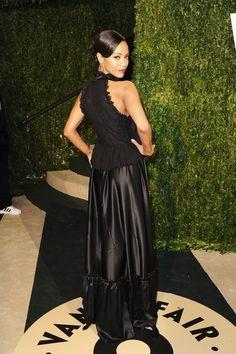 Zoe Saldana - 2013 Vanity Fair Oscar Party Hosted By Graydon Carter - Arrivals