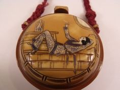 Very RARE 1920's French Art Deco Celluloid Compact Minaudiere Vanity Purse