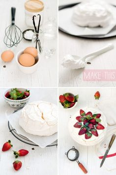 The top cracks while it bakes– it's amazing what a dollop of cream can disguise. Delicious Strawberry Pavlova recipe by jillian leiboff