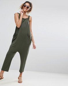 e188c4bb91 ASOS DESIGN | ASOS DESIGN jersey minimal jumpsuit with ties Holiday  Wardrobe, Drop Crotch,