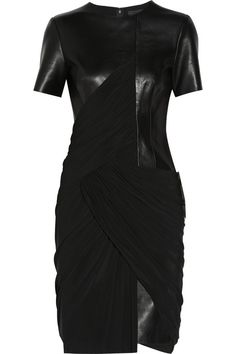 The Look: Alexander Wang Draped jersey and leather dress