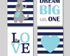 11x14 Dream big little one Set of 4 prints by Justabirdprintables