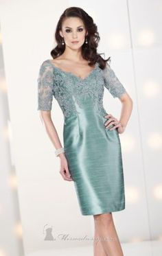 Knee Length Dress by Social Occasions by Mon Cheri 212804