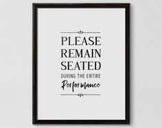Funny Bathroom Sign Please Remain Seated Bathroom Art Bathroom Humor, Diy Bathroom Decor, Bathroom Signs, Bathroom Styling, Bathroom Organization, Bathroom Ideas, Bathroom Prints, Bathroom Cabinets, Funny Bathroom Quotes