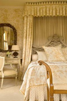 BARRY DIXON - bedroom in yellow