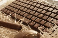 Chocolate keyboard, mouse and cigar...  ( Photo by Alina Sottaeva )