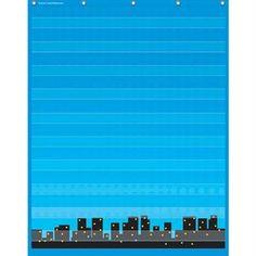 Superhero Pocket Chart With 10 Pockets