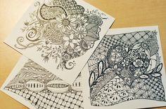 ゼンタングルはペンと鉛筆、紙があればいつでもどこでも楽しめるアートです。集中力を高めていくうちに余計な考えや感情が消え、とても穏やかな気持ちになれます。