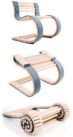Silla de madera con diseño extravagante  de alta complejidad