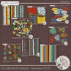 Our Little World Collection. Digital Scrapbook Product at Gotta Pixel. www.gottapixel.net/