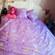 Sailor Moon Usagi Tsukino Bed Sheets Duvet Set by NavidsonVintage