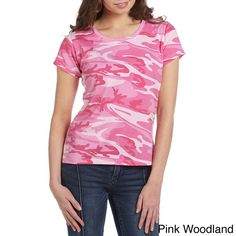 Code V Women's Jersey Camouflage T-Shirt