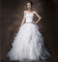 """1 Pc 4 Layers White Handmade Lace Wedding Dress for 11/"""" s Dolls P0CA"""