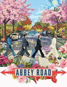 ☮ American Hippie Art ☮ The Beatles … Abby Road - english. Poster Dos Beatles, Les Beatles, Beatles Art, Beatles Guitar, Abbey Road, John Lenon, Pop Art, Rock Poster, Pop Rock