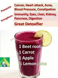 MIRACLE DRINK : MIRACLE DRINK has been circulating for a long time. It is worth your while to take note. You need one beet root, one carrot and one apple that combines together to make the JUICE!