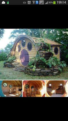Novo estilo de casa de madeira para crianças.