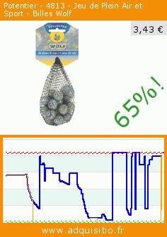 Potentier - 4813 - Jeu de Plein Air et Sport - Billes Wolf (Jouet). Réduction de 65%! Prix actuel 3,43 €, l'ancien prix était de 9,90 €. https://www.adquisitio.fr/potentier/4813-jeu-plein-air-sport