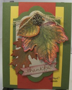 Vintage Leaves make a great card for Thanksgiving