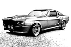 """Shelby Mustang, ahh I fell in love with it when it was featured in the movie """"Gone in 60seconds"""". Here is a drawing I did recently for a Shelby owner. I hope you like it! We got thousands of car dr..."""