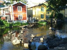 Old houses by the Norrtälje stream