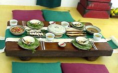 Traditional Korean Table with Floor Seating