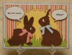 Monique Griffith Designs: Inappropriate Easter Card
