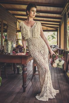 Handmade Crochet Wedding Dress LUNA LLENA от IsaCatepillan на Etsy