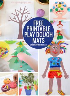 We love play dough mats! Find all of our free printable play dough mats here!