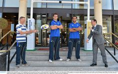 Joe Schmidt, Shane Jennings and Isa Nacewa at the launch of Leinster's partnership with Conrad Hotel, Dublin - Official Hotel to Leinster Rugby Leinster Rugby, Conrad Hotel, Schmidt, Dublin, Cool Photos, Product Launch, Fashion, Moda, Fashion Styles