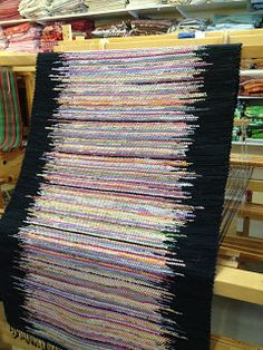 Fun pattern for a hooked rug? Use up all those extra pieces left over from other projects!