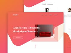 Landing Page ui -Interior decoration
