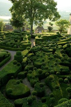 Jardin de Marqueyssac. The Château de Marqueyssac is a 17th-century château and gardens located at Vézac, in the Dordogne Department of #France. The château was built at the end of the 17th century by Bertrand Vernet de Marqueyssac, Counselor to Louis XIV, on cliffs overlooking the Dordogne Valley.