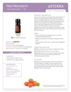 Red Mandarin- For ordering or questions, visit my.doterra.com/DrJaclyn