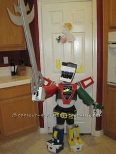 Original Home Made Voltron Costume... This website is the Pinterest of costumes
