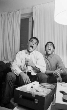 Playful picture of Muhammad Ali and Sam Cooke hanging out in Muhammad Ali, Sam Cooke, Float Like A Butterfly, Black History Facts, Cinema, Black Pride, Before Us, African American History, Black Power