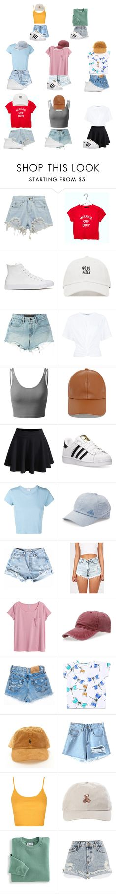 """My summer week (but 8 instead)"" by garaff ❤ liked on Polyvore featuring Chicnova Fashion, Converse, T By Alexander Wang, Doublju, LULUS, WithChic, adidas, RE/DONE, H&M and Mini Rodini"