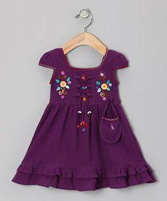Plum Lily Cap-Sleeve Dress - Toddler & Girls by Little Cotton Dress #zulily #zulilyfinds