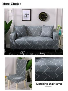Sofa Cover Elastic for Living Room Spandex Corner Couch Slipcover Ship Home Living Room, Living Room Designs, Teal Painted Furniture, Slipcovers, Couch Slipcover, Corner Couch, Diy Furniture Couch, Three Seater Sofa, Sofa Covers