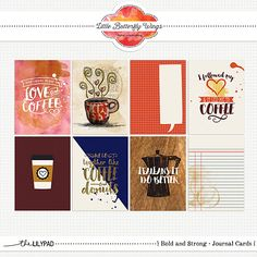 Bold & Strong {Journal Cards}