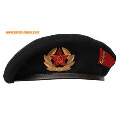 New, unused original Soviet Marine troopers black beret uniform hat. Hat comes with Russian badges. Military Beret, Army Hat, Camouflage, Black Berets, Military Units, Military Surplus, Hat Sizes, Military Fashion, Marines