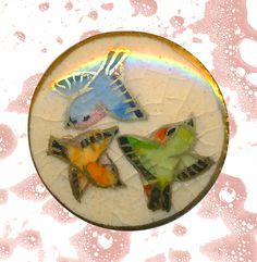 Image Copyright RC Larner ~ Modern 20th C. Satsuma Pottery Flutterbys  ~ R C Larner Buttons at eBay & Etsy        http://stores.ebay.com/RC-LARNER-BUTTONS and https://www.etsy.com/shop/rclarner