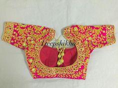 Heavy bridal blouse by Hyderabadi designer