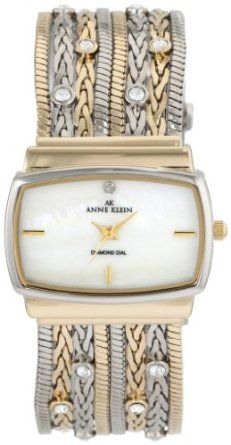 Anne Klein Women's 109271MPTT Swarovski Crystal Accented Two-Tone Multi-Chain Bracelet Watch-- FREE SUPER SAVER SHIPPING for a limited time!--->  http://amzn.to/1bOlIhY