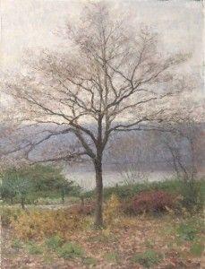 Cloudy Autumn by Bennett Vadnais, oil on canvas, landscape painting, 12 x 16, 2006.